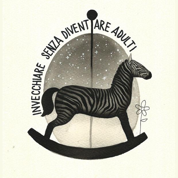 Zebra a dondolo